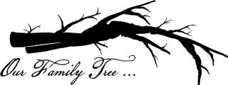 Our Family Tree Branch Vinyl Decal Wall Sticker Family Room Picture Wall Decor