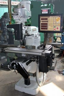 Bridgeport 3 Axis Vertical CNC Milling Machine with Crusader II Anilam Control
