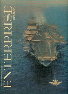 1964 USS Enterprise Cvan 65 Cvan 65 U s Navy Mediterranean Cruise Book