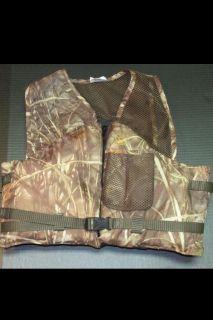 Camoflauge Ducks Unlimited Life Jacket Vest Fishing Hunting Kayaking