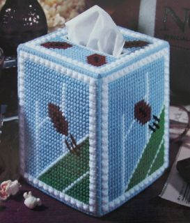 Just for Football Fans Plastic Canvas Pattern Boutique Tissue Box Cover