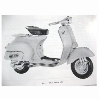 1963 Vespa VNB 125 Owners Manual in Italian
