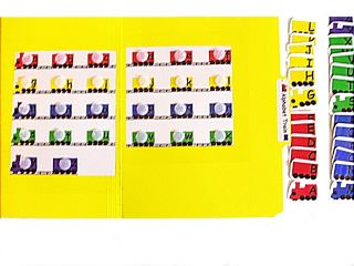 Alphabet Train File Folder Game Laminated Velcro Pecs