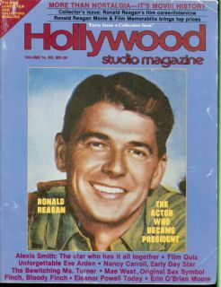 1981 Hollywood Studio Magazine Ronald Reagan Actor Who Became President