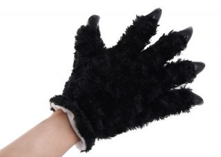 Fashion Unisex Plush Party Panda Bear Cat Animal Paw Claw Hand Gloves Woman Man