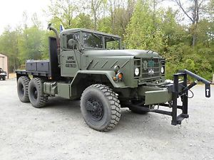 M932 bmy 6x6 Military Army Cummins Turbo Diesel Flatbed Snow Plow Winch Truck