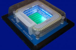 Real Madrid Bernabeu Handmade Model Stadium with Working Floodlights