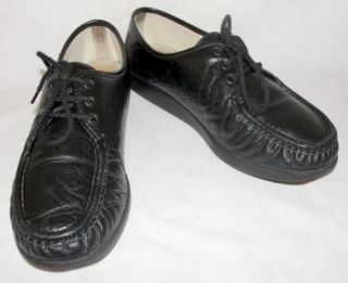 Womens SAS Bounce Black Leather Walking Shoes Loafers Oxfords 11 M Medium