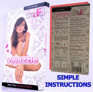 Vajazzle Hen Night Ladies Sexy Heart Gems Kit Bikini Wax Strips Towie Body Art