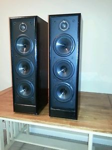 Pair of Infinity RS 525 Main Stereo Floor Standing Speakers Home Theater Tower