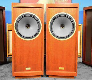 """Tannoy Prestige Model Glenair 15"""" Cherry Wood Floor Standing Speakers Pair"""