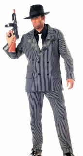 1920's Mobster Gangster Mafia Gatsby Men's Fancy Dress Costume Suit Tie