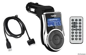 Naxa FM Radio Transmitter Car Charger Combo for iPod iPhone USB SD Aux Input New