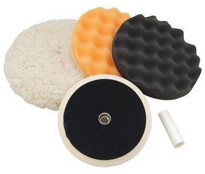 Waffle Wool Foam Pad Buffing Polishing Kit Car Polish