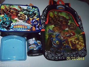 "Skylanders Giants 16"" Backpack Lunch Box Stainless Steel Food Container"