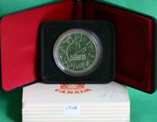 1978 Specimen Silver Dollar Canadian Silver Commemorative Coin Edmonton Canada