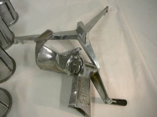 Saladmaster Machine Food Processor 4 Cones for Parts or Repair