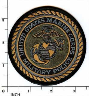 USMC Military Police Subdued OD Marines Patch Marine Corps MP Eagle Globe Anchor