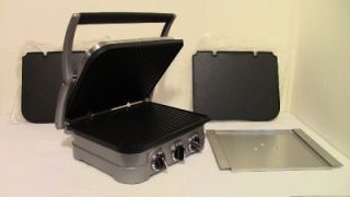 Cuisinart Griddler Grill Griddle 5 in 1 with Extra Grill Plates Tray Pan Mint