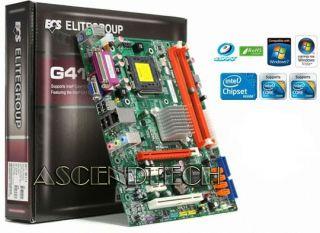 ECS G41T M6 Intel G41 LGA775 2X DDR3 VGA 4X SATA PCIe Desktop Motherboard