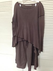 Cynthia Ashby Gauze Linen 2 PC Top and Pants