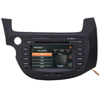 Car GPS Navigation Double DIN TFT 7 inch TV DVD Player Radio for 09 11 Honda Fit
