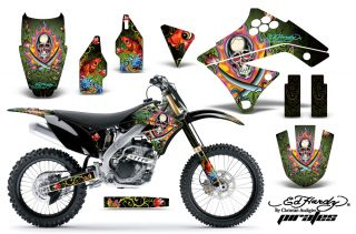 AMR Racing Dirt Bike Motocross Sticker Decal Kawasaki KXF 250 09 12 Ed Hardy PG