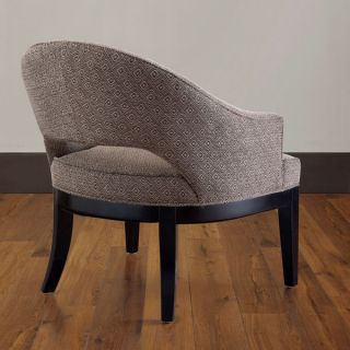 Retro Modern Style Brown Creme Pattern Fabric Accent Chair New