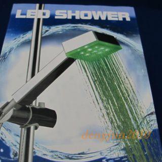 Environmental Friendly Color LED Shower Head 3 Lights Water Home Bath Bathroom