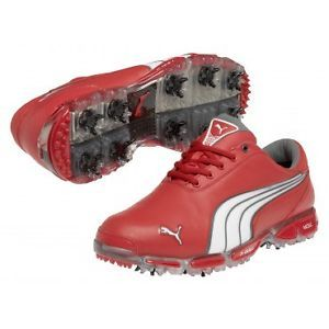 New Puma Super Cell Fusion Ice Le Golf Shoes Tomato Red Size 7 Rickie Fowler