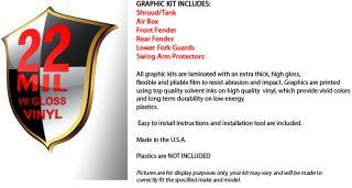 1996 2002 Honda CR 80 Graphics Kit MX Decal Sticker Gears Deco Decal 96 97 01 02