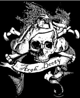 Argh Booty T Shirt Pirate Flag Jolly Roger Beastie Boys Mermaid Skull Crossbones