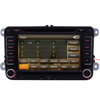 Car GPS Navigation Double DIN TFT TV DVD Player Radio for 2008 2011 VW Passat CC