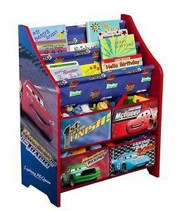 Disney Cars Book and Toy Organizer Pixar Colorful Kids Storage