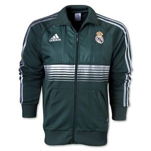 Adidas Real Madrid 12 13 Anthem Jacket Green White Z10454