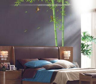 Green Bamboo Birds Removable Wall Stickers Decor Decals Art Kids Nursery DIY B14
