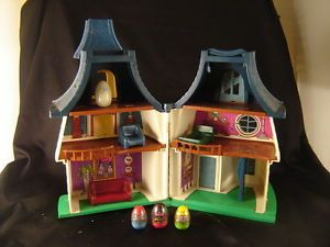 Vtg Weebles Haunted House Playset Toy Romper Room Wobble Kid Ghost Halloween