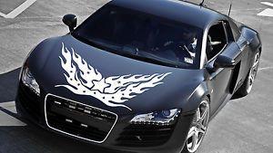 Car Vinyl Hood Graphics Decals Sticker Huge Flame Design N440