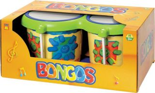 Hohner Kids Toy Bongos 4 and 5 inch Heads