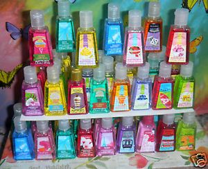 Lot of 40 Bath Body Works PocketBac Anti Bacterial Sanitizer Hand Gel Assorted