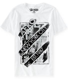 Aeropostale Mens Aero NYC Attitude Graphic T Shirt