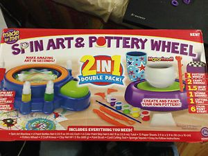 Spin Art and Pottery Wheel Kids Toy Arts Crafts New in Box Great Gift
