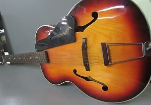 Vintage Harmony Broadway Archtop Acoustic Guitar Model H954 Made in USA