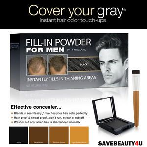 Cover Your Gray Hair Care Solution Fill in Powder for Men with Procapil 4 Colors