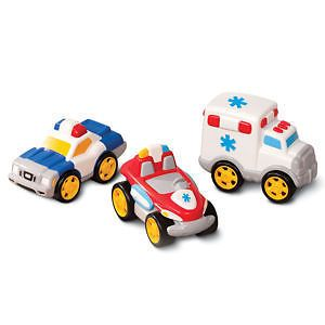 Toddler Toy Cars Little Tikes Playset Rescue Vehicles Kids Ambulance Police Car