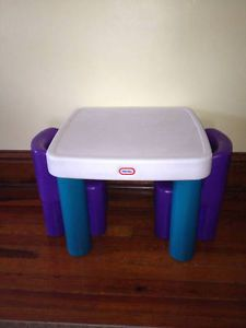 ... Little Tikes Classic Kids Room Table with Drawers and Chairs Set Purple Teal ... : little tikes table and chairs set - pezcame.com