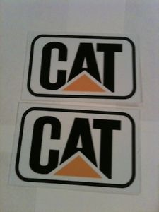 Cat Stickers Decals Hard Hat Toolbox Diesel Bull Dozer Escavator Backhoe Loader