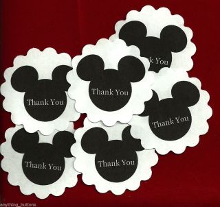 Mickey Mouse Themed Mickey Mouse Ears Thank You Stickers 24ct