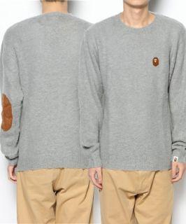 """New"" Felt Ape Head Mohair Crew Neck Sweater"