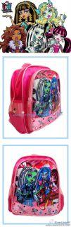 Monster High Plush Preschool School Backpack Shoulder Boys Kids Toy Bag